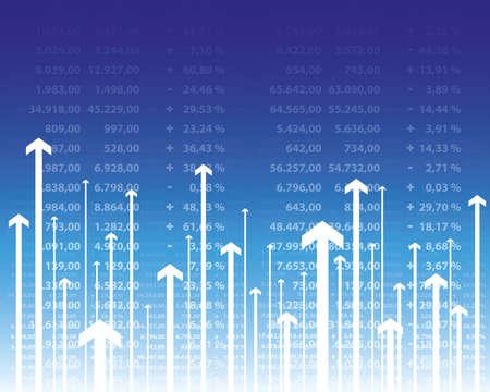 Aktienkurse Vektorgrafik