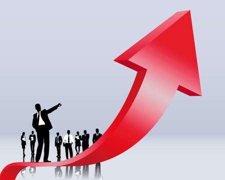 opwaartse trend en carrière Vector Illustratie