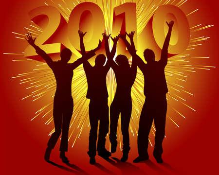 jump for joy: New Years Eve 2010 Illustration