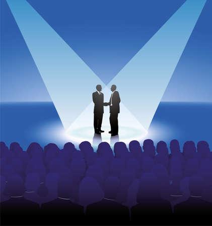 akkoord: zakenpartner Stock Illustratie