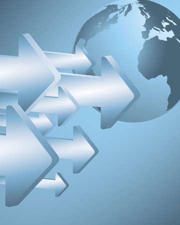 overdracht: Import en export Stock Illustratie