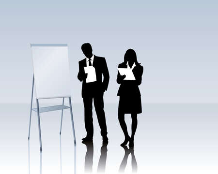 career coach: business people with a flipchart
