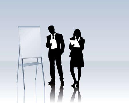coaching: les gens d'affaires avec un tableau de conf?rence