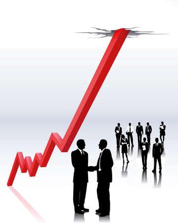 tendencja: brokerzy zapasów Ilustracja