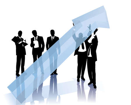 successful businessteam Vector