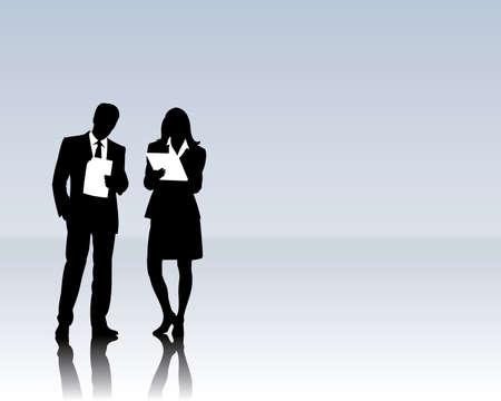 coaching: Les gens d'affaires Illustration