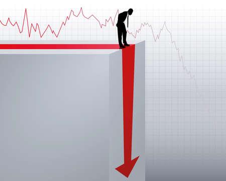 effondrement: l'effondrement du chiffre d'affaires Illustration