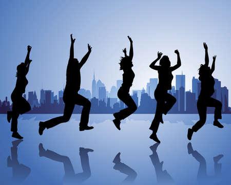 salti: gioia di vivere Vettoriali