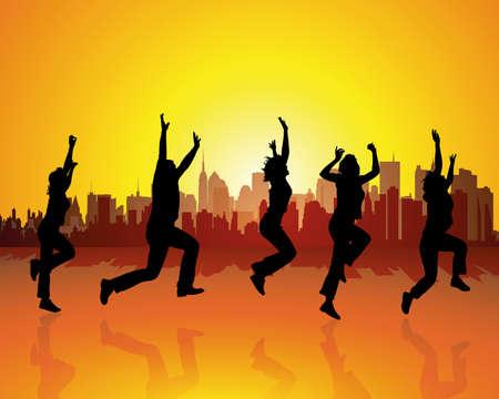 jump for joy: zest for life Illustration