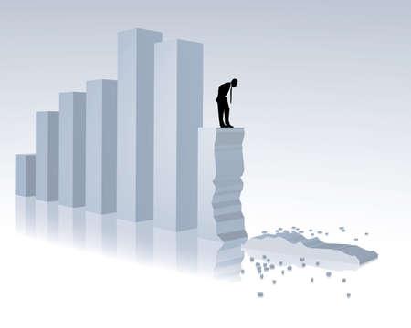 collapse of turnover Vektoros illusztráció
