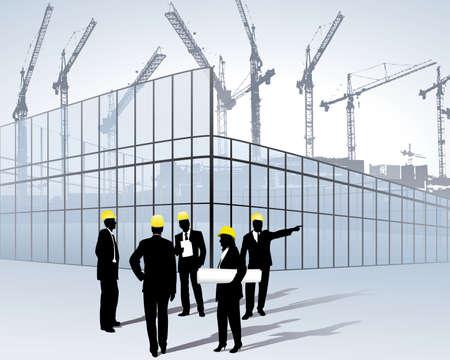 architecten op een bouw plaats