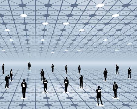 datacentre: employment Illustration