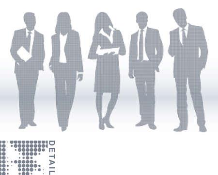 Business team Stock Vector - 6385360