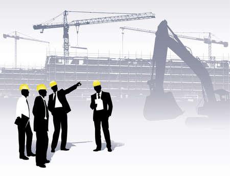 Architekten auf einer Baustelle