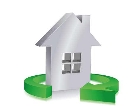 eco  house Stock Vector - 6385345