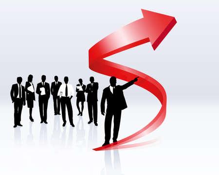 rosnąco: tendencja wzrostowa i kariera  Ilustracja