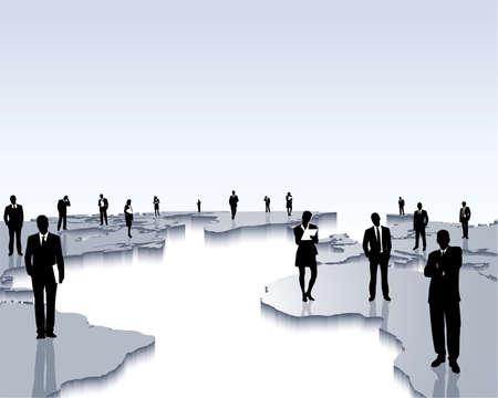contacting: worldwide cooperation Illustration