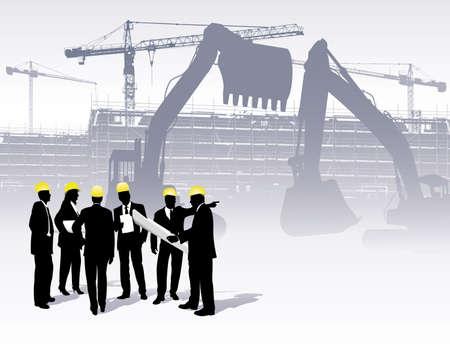 ingenieurs: architecten op een bouw plaats
