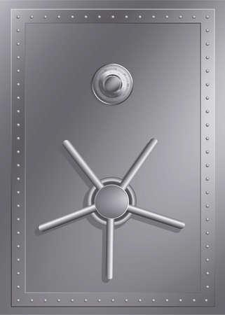 Steel safe with combination lock Illustration