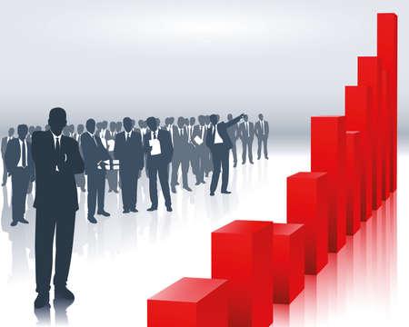 bank manager: tendencia de venta  Vectores