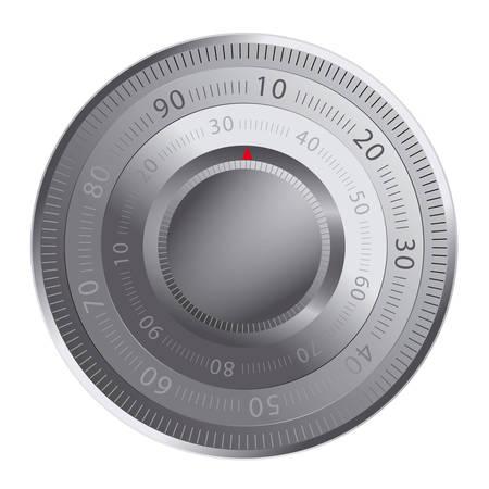 cajas fuertes: Cerradura de combinaci�n de una caja de seguridad