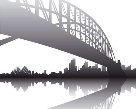 steel bridge: Harbour Bridge, Sydney Illustration
