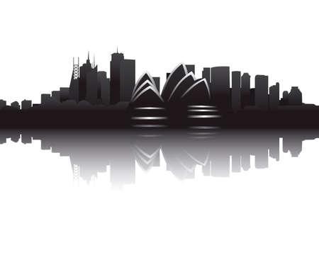 Skyline of Sydney Illustration