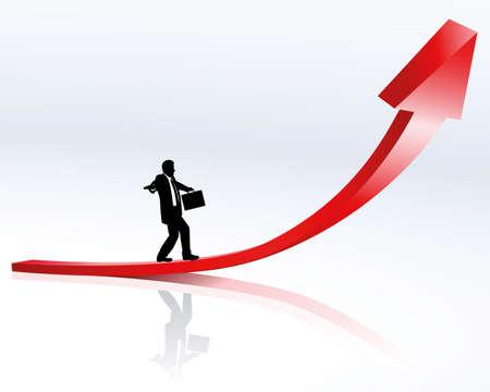 tendance à la hausse et carrière  Vecteurs