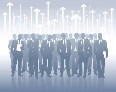 succesvolle business team  Vector Illustratie