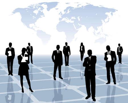 red internacional  Ilustración de vector