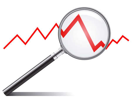 sales graph: sales trend Illustration
