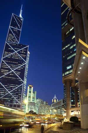 Hongkong at night Banco de Imagens
