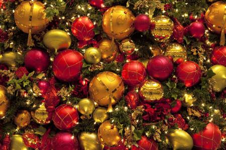 christmas motif: many christmas balls