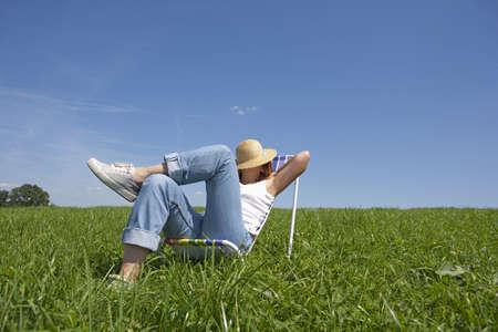 asleep chair: relax Stock Photo