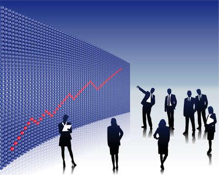 sales chart Vector
