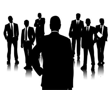 クライアント: ビジネス チーム  イラスト・ベクター素材