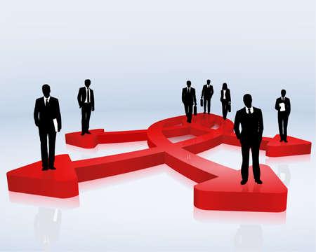 alineaci�n: Equipo de negocios y objetivos