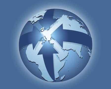中央ヨーロッパ  イラスト・ベクター素材