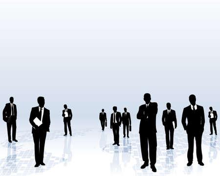 global networking: equipo de negocios