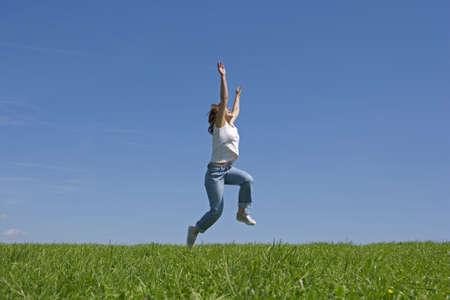 lebensfreude: jung und Happyness Frauen