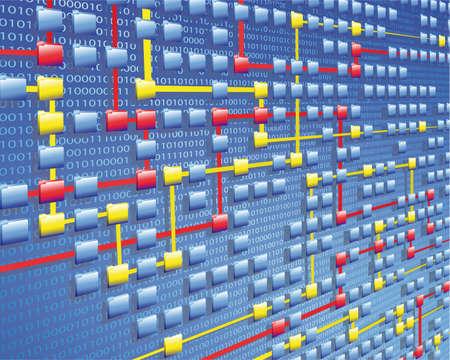 flujo de datos Ilustración de vector