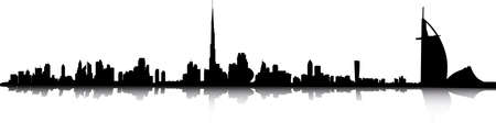 dubai skyline Stock Vector - 10497684