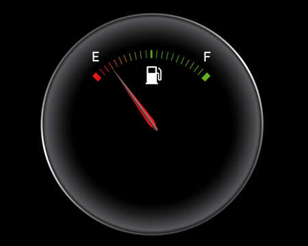 gas gauge: fuel gauge