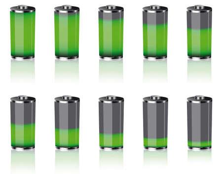 baterie Ilustracje wektorowe