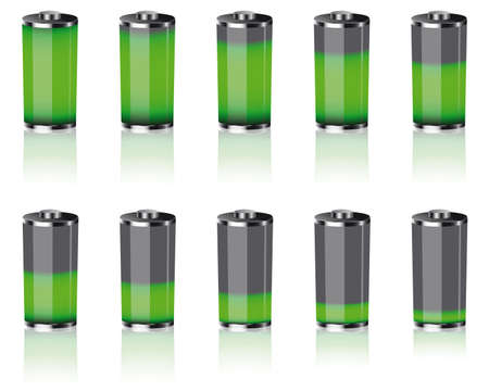 levels: batteries Illustration