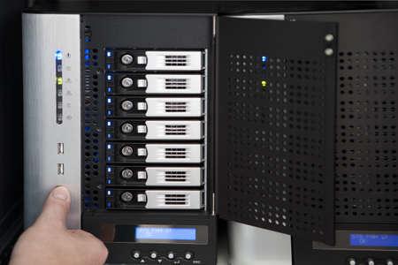 reboot of a server system Standard-Bild
