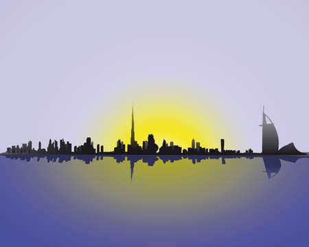 luxury travel: horizonte de Dubai