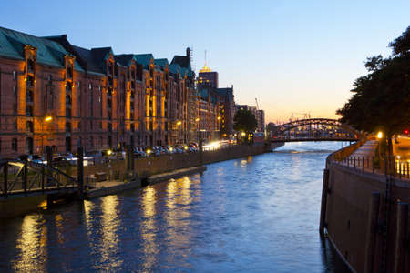 historical speicherstadt in hamburg