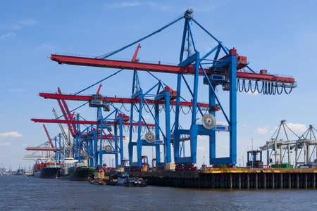haven van verscheping Stockfoto