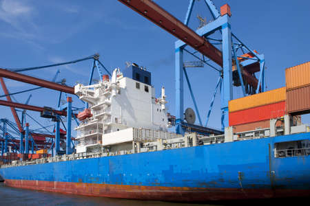 container shipping Banque d'images